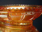 Scarce Imperial Carnival Glass Frosted Block Marigold Oval Relish Tray Nouveau