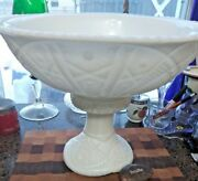 Vintage Mckee White Milk Glass Concord American Punch Bowl W/pedestal 14 Cups