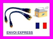 Adapters Cable Amp Splitter Rca 1 Male - 2 Females Audio Cable Sono