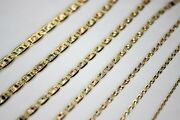 14k Yellow White Rose Gold Tri Color Valentino Chain Necklace 1.5mm6mm / 1626