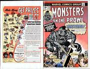 1974 Jack Kirby And Steve Ditko Monsters 28 Original Cover Proof Production Art