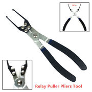 Universal Electrical Relay Fuse Puller Remover Install Remove Tool Plier Black
