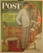 1945 Saturday Evening Post Norman Rockwell And039back To Civies Ww2 Soldier Poster