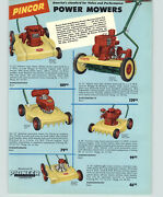 1957 Paper Ad Pincor Gas Gasoline Power Lawn Mower Rotary Reel Briggs And Stratton