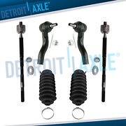 Inner Outer Tie Rod End W/ Steering Rack Boot Set For 2005 2006-2010 Scion Tc