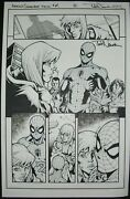 Original Art Amazing Spider-man 14 Page 8 By Todd Nauck, Signed