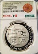 2005 Mexico Silver Medal Mexican Mint 470th Anniversary Ngc Pf 69 Ultra Cameo