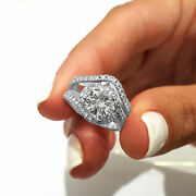 Swirl Wedding Bridal Ring Sets 925 Silver 2.40 Ct Round Cut Diamond Gift For Her
