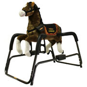Rockinand039 Spring Horse With Animated Head Rider Talking Plush Kids Ride On Toy New