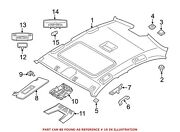 For Bmw Genuine Overhead Console Front Upper Center 61316826924