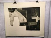 Robert Watson Area Findings 1967 Lithograph Signed Mid Century Art Print
