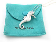 And Co Silver Rare Turquoise Seahorse Sea Horse Pendant Necklace