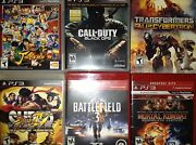 Lot Of 8 Ps3 Games J-stars Vs + Call Of Duty Black Ops Nba2k11 And More