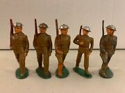 Barclay Manoil Assorted Soldier Lot Of 5 Vintage Lead Toys Figures War Army