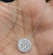 Deal 1.50ct Genuine Round Cut Cluster Diamond Pendant Charm 14k Gold With Chain