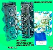 2 New Ford Ranger Taurus Sable 3.0 Ohv Cylinder Heads Gasket And Bolt 8mm 86-99