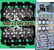 New 2 Ford 6.0 Turbo Diesel F350 Truck Cylinder Heads 18mm Cast080 Boltandgasket