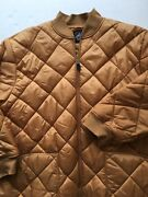 Foot Locker Gold Quilted Puff Jacket Menand039s Size 3xl