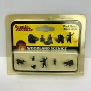 Vintage N Scale Scenic Accents Woodland Scenics Black Bears - A2186 - Nib