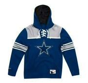 Navy Dallas Cowboys Mitchell And Ness Nfl Football Fleece Hoodie