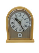 Vintage General Electric Lighted Dial Electric Alarm Clock In Harvest Gold