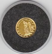 Small 2000 Turkey Gold 100 Million Lire In Near Mint Condition With Certificate