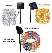Outdoor Waterproof Copper Wire Solar String Lights Led Garden Xmas Party Decor