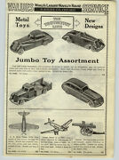 1936 Paper Ad 4 Pg Tootsietoy Metal Toy Train Truck Cars Army Soldiers Tanks