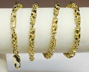 10kt Solid Gold Heavy Handmade Nugget Link Chain/necklace 22 50 Grams 4.5 Mm