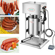 Commercial Electric Sausage Stuffer Stainless Steel Meat Filler Machine 110/220v