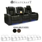 Seatcraft Diamante Leather Home Theater Seating Recliners Seat Chair Couch