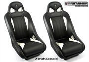 Pro Armor Racing Bucket Seat Upgrade Sturdy Comfortable Pair 2x P141s185wh White