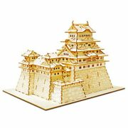 Azone Wooden Art Style Wood Puzzle Kigumi Himeji Castle From Japan
