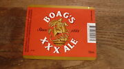 Australian Collectable Beer Label Boags Xxx Ale 750ml