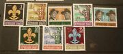 Old Boy Scout Girl Guide Stamp Collection, Haiti Set Of 8 Mint, 22nd Anniv