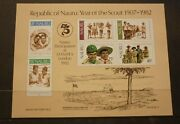 Old Boy Scout Girl Guide Stamp Collection, Nauru 1982 Set Of 6 Mint Sheet