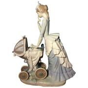 Lladro Figurine 4938 Babyand039s First Outing Retired Mint