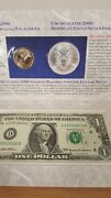 2000 Millennium Coinage And Currency Set Coins With Odd 1 Note Serial D20001616b