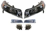 Left And Right Genuine Headlights And Fog Turn Signal Lights Kit For Acura Tl 12-14