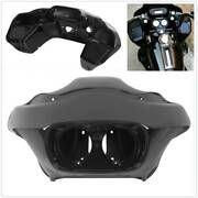Vivid Black Injection Outer And Inner Fairing Fit For Harley Fltr Road Glide 98-13