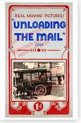 Unloading The Mail Horse Drawn Wagon Penny Arcade Mutoscope Movie Marquee Poster
