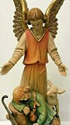 Anri Bachlechner | 24 Inch Guardian Angel Figurine ✪new✪ Rare Wood Italy Vintage