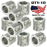10 Clamp On 4 Bolt Steel Dom Fabrication Clamp 1.25 Roll Bars Cage Tubing Weld