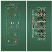 Craps Roulette 2-sided Casino Felt Layout Sets Sports Outdoors Equipment And