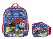 Thomas The Train 12 Toddler Small Backpack Plus Matching Lunch Bag Set
