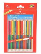 Faber Castell Dual Sided Bi Color Pencils In Hexagonal Shape | Set Of 18
