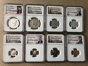 1996-s -ngc 70 Silver And Clad Full Set -8 Coins