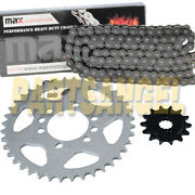 Black O-ring Chain Sprocket Fit 2003-2006 2004 2005 Kawasaki Ksf400 A Kfx400