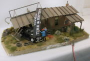 O On3 On30 Custom Built Bar Mills Townline Tire And Battery Diorama