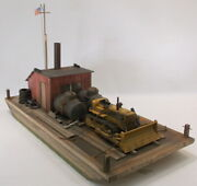 O On3 On30 Custom Built Work Barge With Cabinfuel Tanks And Cat Dozer